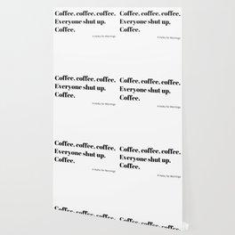 Coffee Haiku for Mornings black Typography Wallpaper