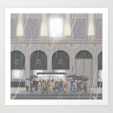 Summer in London Art Print