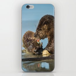 River Otter Meets Crab iPhone Skin
