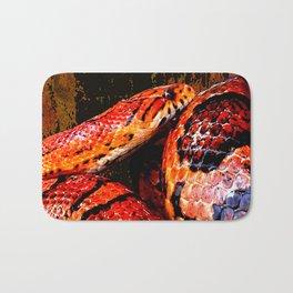 Grunge Coiled Corn Snake Bath Mat