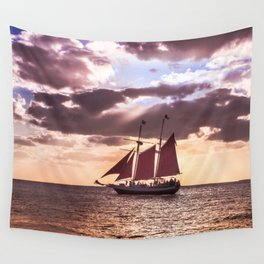 Scarlet sails Wall Tapestry