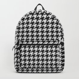 Friendly Houndstooth Pattern, black and white Backpack