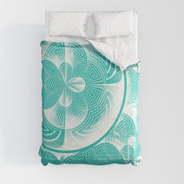 Light turquoise abstract Comforters
