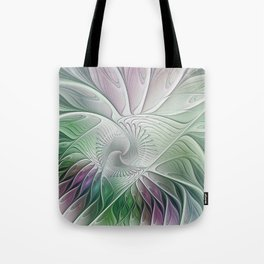 Colorful Fantasy Flower, Abstract Fractal Art Tote Bag