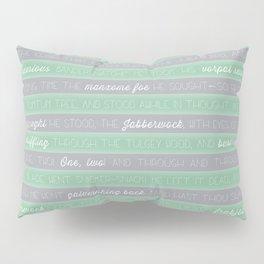 Jabberwocky - Green Pillow Sham