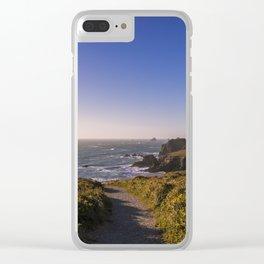 Elk Head Trail Clear iPhone Case