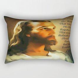 Jesus - John 3:16 Rectangular Pillow