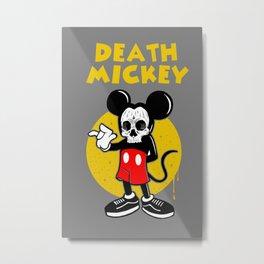 death mickey Metal Print