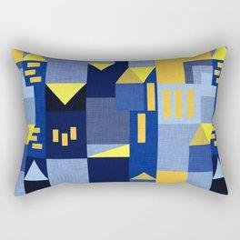 Blue Klee houses Rectangular Pillow