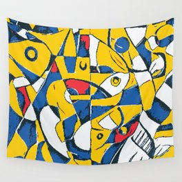 Pixelated Abstract Art Wall Tapestry