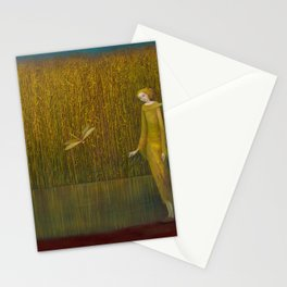 Dragonfly in Fields of Gold - Magical Realism Stationery Cards