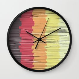 Shreds of Color 5 Wall Clock