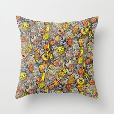 Pencil People Throw Pillow