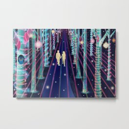 Walking in the Magic Forest Metal Print