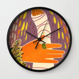 The Mysterious Lady's Hand on Her Leg Wall Clock