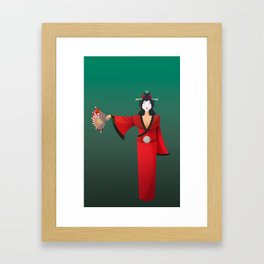 Vector Geisha (Turning Japanese) Framed Art Print