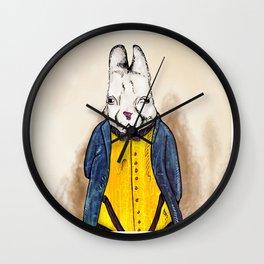 """Rabbiteers """"Professor Lucky"""" Wall Clock"""