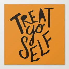 Halloween Treat Yo Self Canvas Print