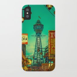 Osaka Nights - Shinsekai, New World / Liam Wong iPhone Case