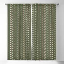 Stripes 001 on Olive Green Blackout Curtain