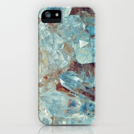 Heavenly Blue Quartz Crystal iPhone Case