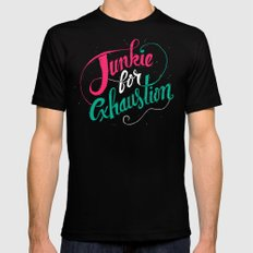 Junkie For Exhaustion SMALL Black Mens Fitted Tee