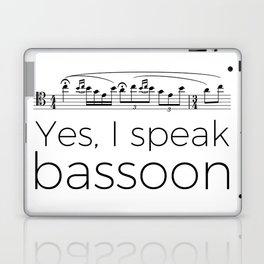 I speak bassoon Laptop & iPad Skin