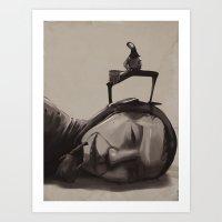 scuba Art Prints featuring Scuba diver by antoniopiedade