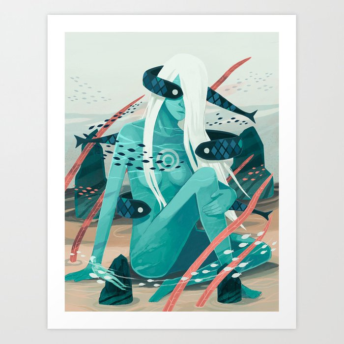 Heavy water Art Print