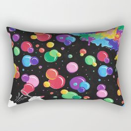 Bubbles colors the World !  Rectangular Pillow
