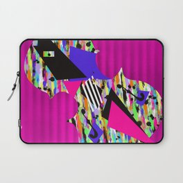 Cello Abstraction on Hot Pink Laptop Sleeve