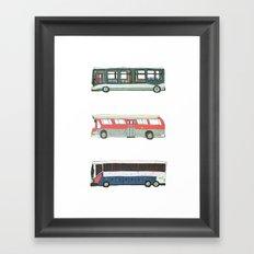 Buses Framed Art Print