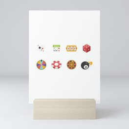 Roulette, Slots, Chips, Dice & Cards Nevada Day Mini Art Print