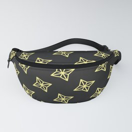 Yellow crosses on Black Fanny Pack