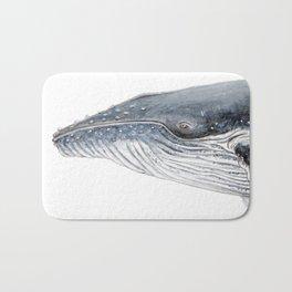 Humpback whale portrait Bath Mat