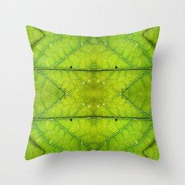 Macro Leaf no 9 Throw Pillow