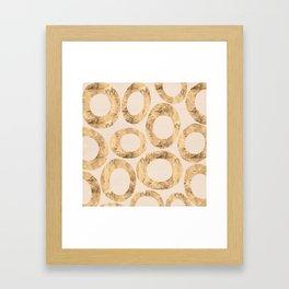 Large Circles (Pink) Framed Art Print