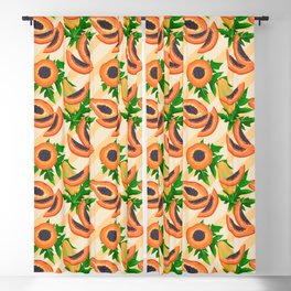 Papaya Party Blackout Curtain