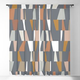 Neutral Geometric 02 Blackout Curtain