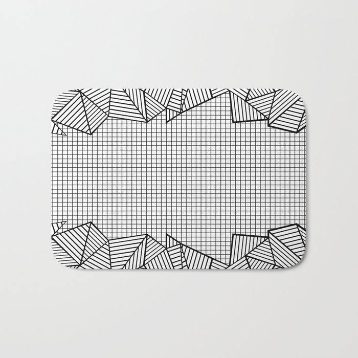 Grids and Stripes Bath Mat