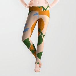 Oranges - gouache painting Leggings