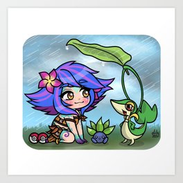 Cute little monsters 4 Art Print