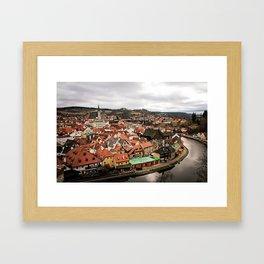 Cesky Krumlov Views Framed Art Print