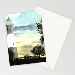 Tybee Island Lighthouse Nautical Art Stationery Cards