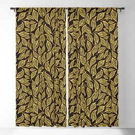 V.20 - Striated Leaves - Golden Foliage Blackout Curtain