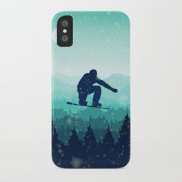 Snowboard Skyline II iPhone Case