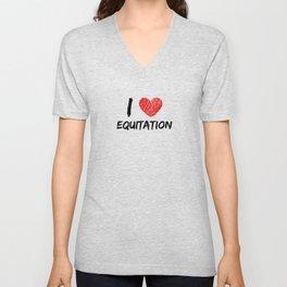 I Love Equitation Unisex V-Neck
