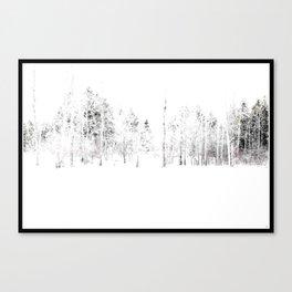 Trees in Winter Vignette | Prospect Landscape | Nadia Bonello | Canada Canvas Print