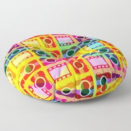 Colorful camera pattern Floor Pillow