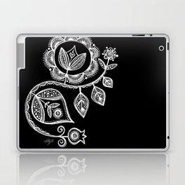 White Flower 15 Laptop & iPad Skin